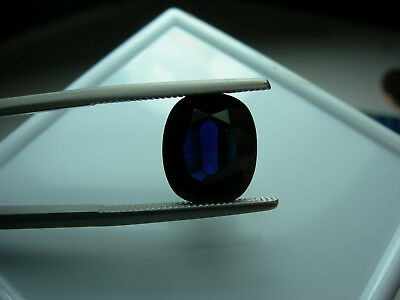RARE 6.0ct BLUE Sapphire Natural Cushion EGL US Lab Report Certified certificate