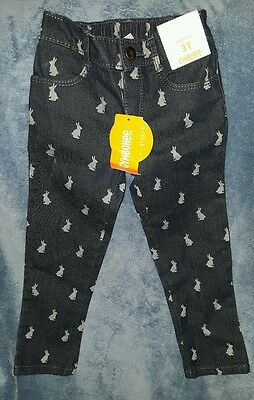 NEW Gymboree 3T Bunny Skinny Blue Jeans pants