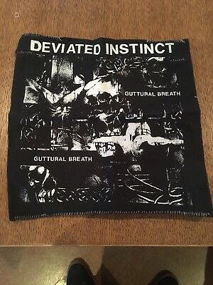 deviated instinct Crust Grind Punk Backpatch