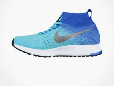 c3f39160a242 NIKE ZM PEGASUS ALL OUT FLYKNIT GS RUNNING SHOES Polarized Blue 859622 400  7Y