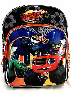 "Blaze And The Monster Machines Blazing Speed Boys 10"" Orange School Backpack"
