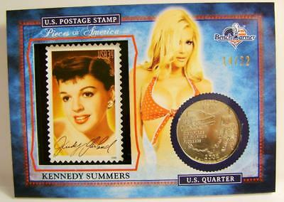 Kennedy Summers Playboy 14/22 Stamp Quarter America The Beautiful Bench Warmer