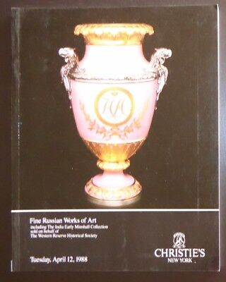 Auction Catalogue Christie's New York Fine Russian Works of Art April 12, 1988
