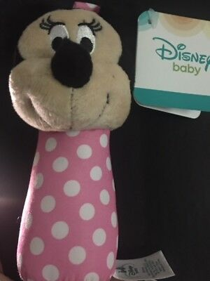 Disney Baby Stick Rattle Toy, Minnie Mouse