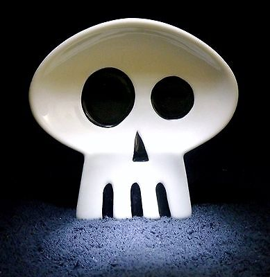 SHAG Rare JAPAN 2006 WHITE SKULL TRAY TIKI Collectible Josh Agle Limited Art NEW