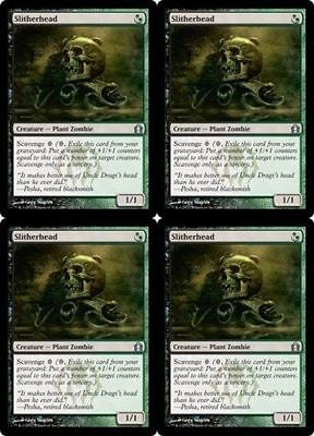 4x Slitherhead - Return to Ravnica Black Green Creature MTG Magic The Gathering