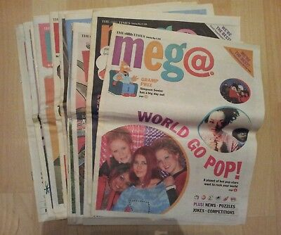 The Times Meg@ kids magazines x16 1999. Includes The Simpsons comic strips