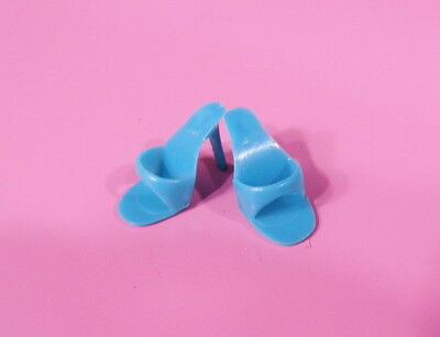 Vintage Barbie Turquoise Open Toe Shoes One Marked Japan MINT