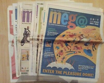 The Times Meg@ kids magazines x16 1999 2000. Includes The Simpsons comic strips