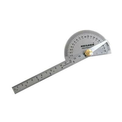 0-180 Degree Protractor Arm Measure Ruler Angle Finder Gauge - Stainless Steel