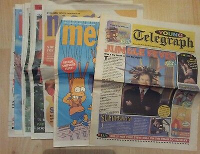 The Times Meg@ kids magazines x10 1999 2000. Includes The Simpsons comic strips