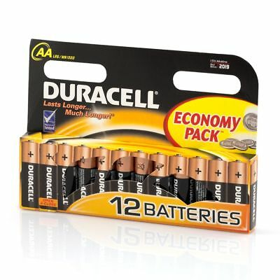 DURACELL Genuine 12 pack AA Batteries MN1500 LR6 Alkaline Battery