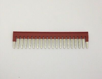Phoenix Contact FBS-20-5 Terminal Block Bridge Connector 20-Pos Red Qty 4