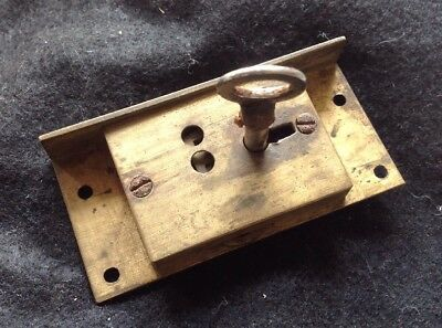 Old Brass Drawer Cabinet Lock