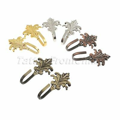 Metal Vintage Maple Leaves Design Coat Clothes Tieback Hook Hanger with 2 Screws