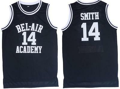 Black Basketball Jersey Sleeveless the Fresh Prince Bel Air Academy Will Smith