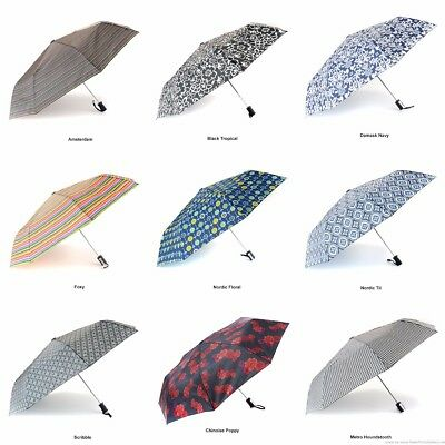 NEW Totes Auto Open Compact Folding Umbrellas Choose From 45 Different Designs