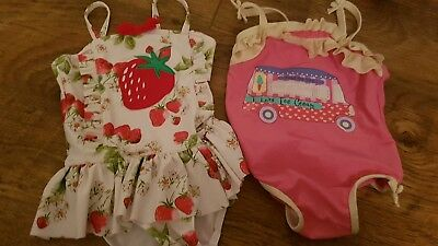 Bundle of 2 NEXT & boot miniclub swimming costumes girls infants size 2-3 years