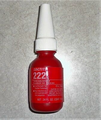 New Loctite 21463 22221 Purple 222 222MS Low Strength Thread Locker 10 ML Bottle