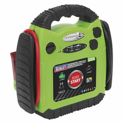 Sealey RoadStart® Emergency Power Pack with Air Compressor 12V 900 Peak Amps