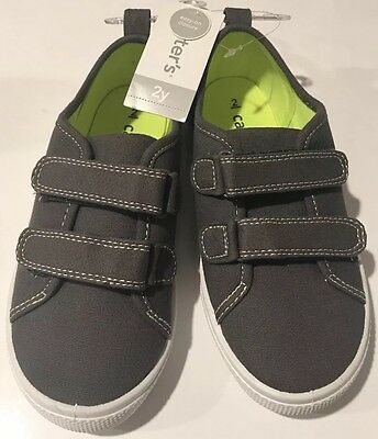 Carters Boys Toddler/Little Kids Skid Dark Grey Casual Shoes Size 2y  NWT $38.00