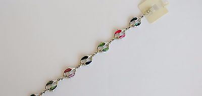 Natural Shell Jewelry Dolphin Design Anklet Dolphin in Twin Design w Paua Shell