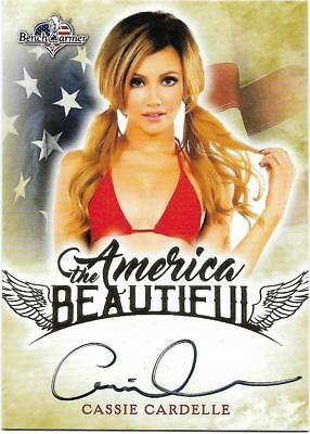 2017 Benchwarmer America The Beautiful Cassie Cardelle Autograph Card