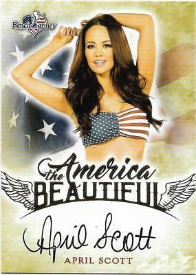 2017 Benchwarmer America The Beautiful April Scott Autograph Card