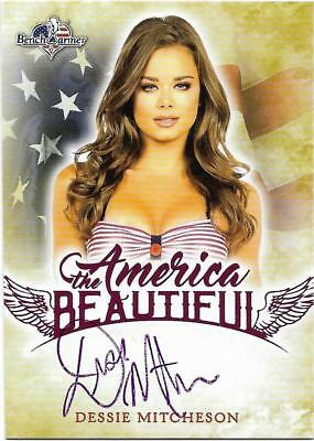 2017 Benchwarmer America The Beautiful Dessie Mitcheson Pink Autograph Card