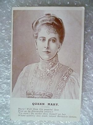 Postcard Queen Mary ! with thou thy peoples' love E'en as to Alexandra shown?