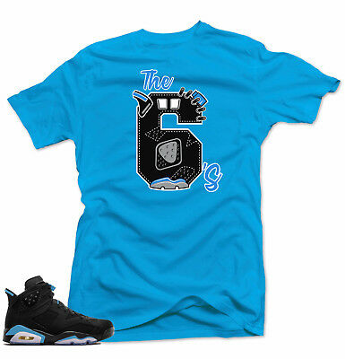 bf64912a659 SHIRT TO MATCH Jordan Retro 6 UNC Sneakers.The 6's Blue Tee - $24.93 ...