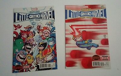 LOT OF 2 GIANT-SIZE LITTLE MARVEL: A VS X Issues 1 & 2 (2015) MARVEL COMICS