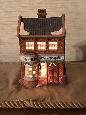 Dept 56 Dickens Village ~ Geo Weeton Watchmaker ~ Mint In Box 59269