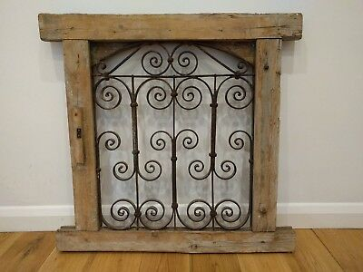 Architectural salvage, Ornate Tunisian window frame grate wooden