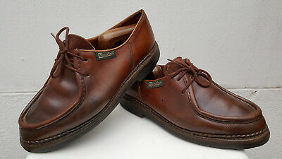Mens Paraboot Michael Uk 9 G Eu 43 Leather Brown Shoes. Worldwide Shipping !!!