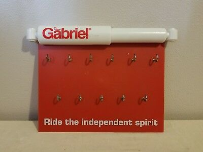 Gabriel Shocks Key Rack Advertising Sign Plastic Red and White
