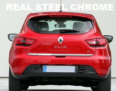 Renault Clio 4 HB Chrome Under Rear Tailgate Trim 2012 Onward Stainless Steel