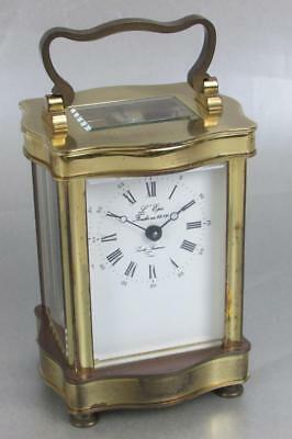 L'EPEE DOUCINE CARRIAGE CLOCK good working order CASE TARNISHED
