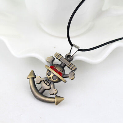 Fashion Charm One Piece Collectibles Necklace Anime Skull Pirate Cosplay Jewelry