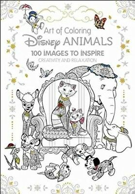 Adults Coloring Book Disney Art Design Relaxing Patterns Animals Stress Relief