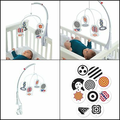 Adjustable Stim Mobile For Baby New Born Bed Crib images and colors Graphic card