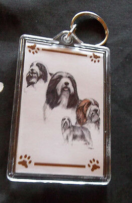 Bearded Collie Key Chain