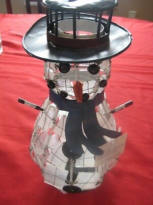 """NWTs Collectible Snowman Candle Holder Publix Christmas Decoration Holiday 11.5"""""""