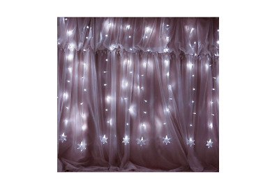 Snow Fairy LED Lights String Snowflakes Icicle Curtain Christmas Decorations