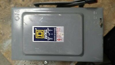 New Square D HU-261 NF Safety Switch 1PH 30A 600V N1