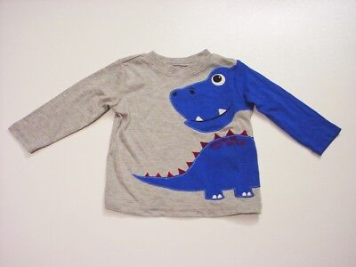 WonderKids Infant & Toddler Boy's Long-Sleeve Dinosaur Shirt Size 12 Months