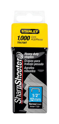Stanley TRA708T Sharp Shooter Narrow Heavy Duty Staples 1/2 in.