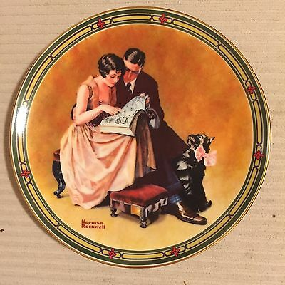 Norman Rockwell Plate American Dream Series COMPLETE SET + Santy Claus COA, MIB