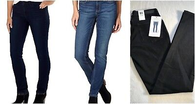 NEW! Calvin Klein Women's Ultimate Skinny Slim Fit Jean rinse black dark wash