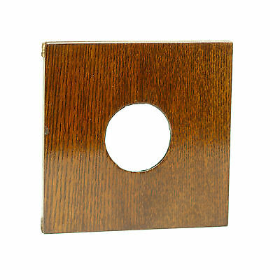 Wood Lens Board Project 4X4 with Copal #0 Hole for Antique Large Format Camera